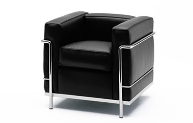 cassina zetel lc2 delmi decor. Black Bedroom Furniture Sets. Home Design Ideas